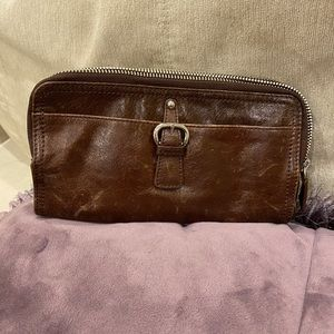 TANO Chicklit Crinkle Large Leather Wallet Clutch